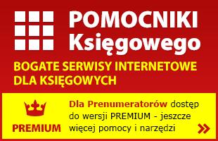 POMOCNIKI Ksi�gowego. BOGATE SERWISY INTERNETOWE DLA KSI�GOWYCH.